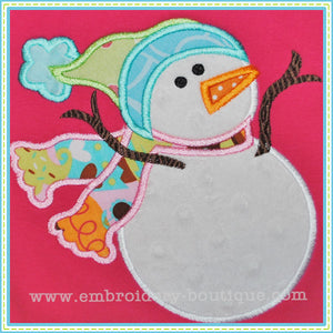 Silly Snowman Applique, Applique