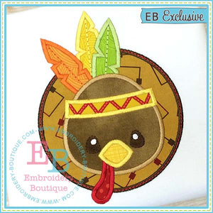 Indian Turkey Applique, Applique