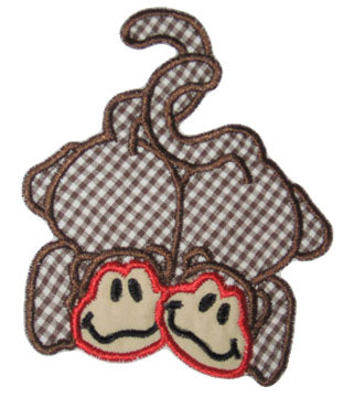 Monkeys Applique - embroidery-boutique