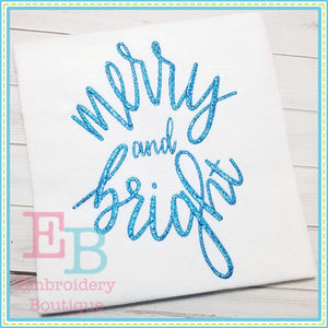 Merry and Bright 2 Design, Embroidery