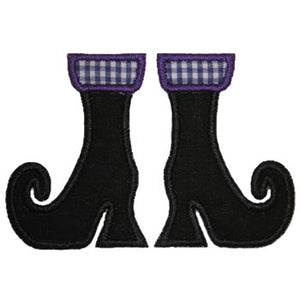 Witch Boots Applique - embroidery-boutique