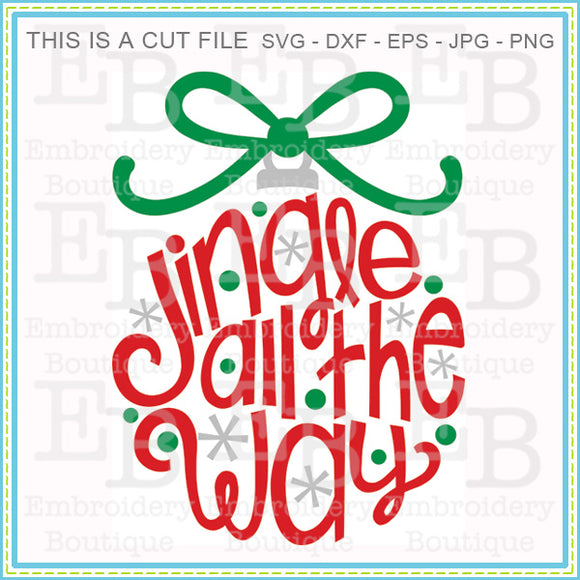 Jingle All The Way SVG, SVG Cut Files