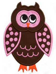 Euro Owl Applique - embroidery-boutique