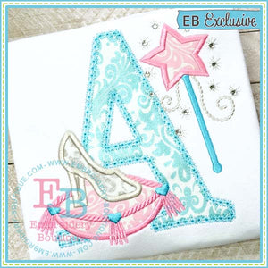 Glass Slipper Alphabet - embroidery-boutique
