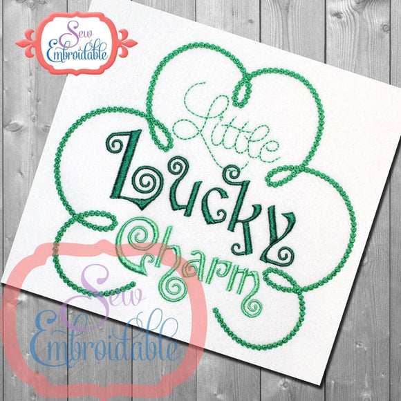 Little Lucky Charm Embroidery Design, Applique