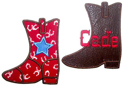 Cowboy Boot Applique - embroidery-boutique