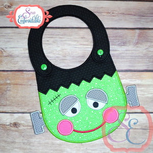 ITH Frankenstein Baby Bib - embroidery-boutique