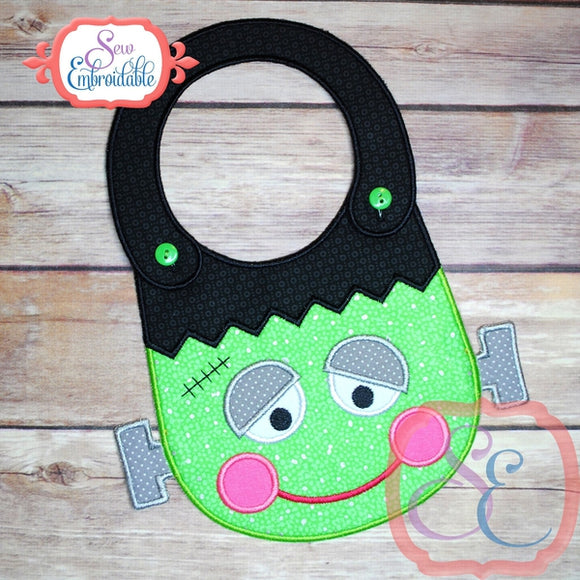 ITH Frankenstein Baby Bib, In The Hoop Projects