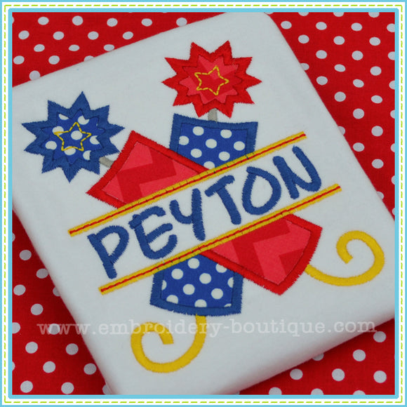 Split Firework Applique - embroidery-boutique