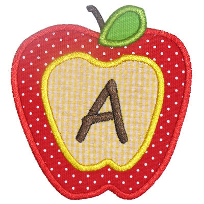 Apple Applique Alphabet - embroidery-boutique