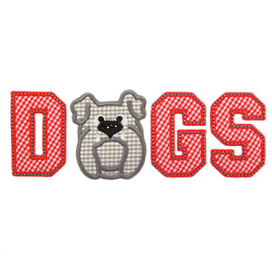 Varsity Dogs Applique - embroidery-boutique