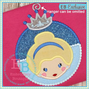 Princess 3 Ornament Applique, Applique