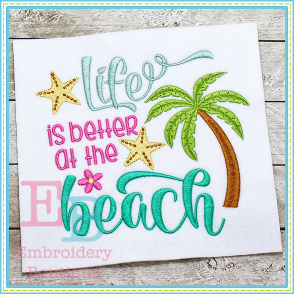 Better At The Beach Design, Applique