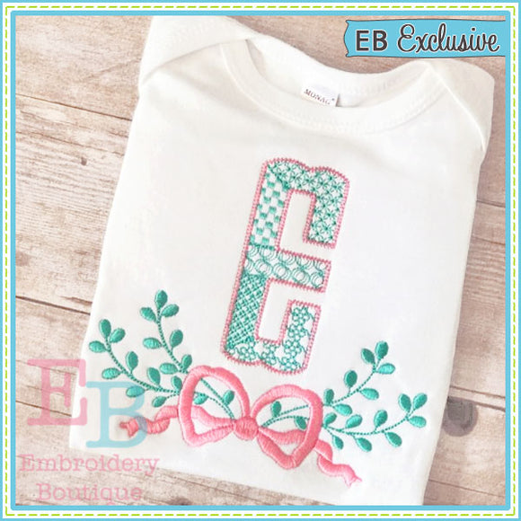 Bow Swag Embroidery Design - embroidery-boutique