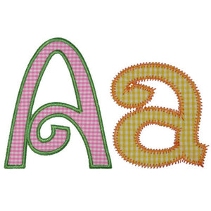 Swirly Applique Alphabet - embroidery-boutique