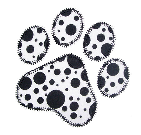 Paw Print Applique - embroidery-boutique