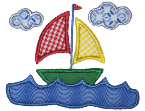 Sail Boat Scene Applique - embroidery-boutique