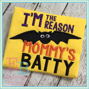 Reason Mommy's Batty Applique, Applique