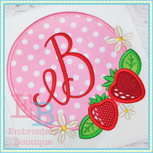 Strawberry Frame Design - embroidery-boutique