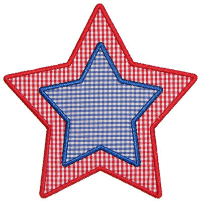 Double Layer Star Applique - embroidery-boutique