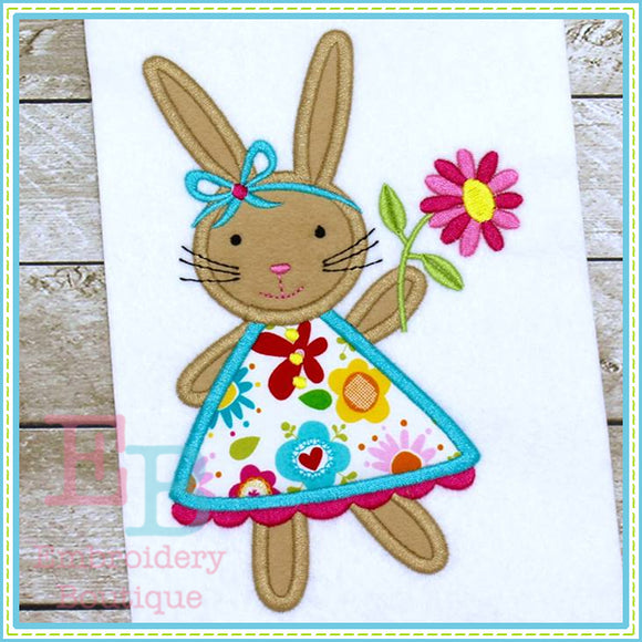 Bunny Dress Applique, Applique