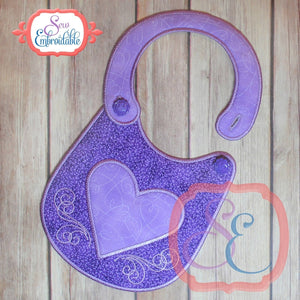 ITH Heart Bib, In The Hoop Projects