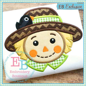 Scarecrow Boy Applique - embroidery-boutique