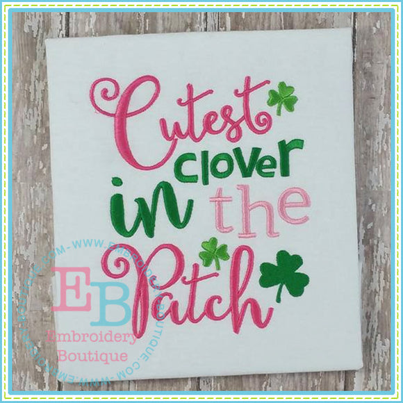 Cutest Clover Embroidery Design, Applique