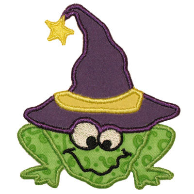 Witch Frog Applique