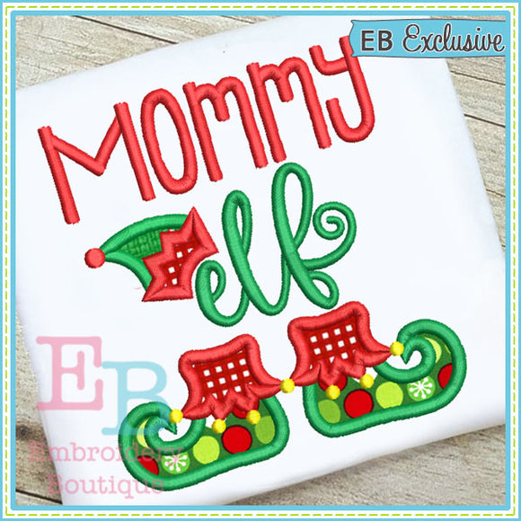 Mommy Elf Applique, Applique