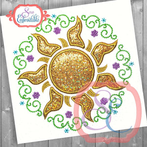 Sun Princess Frame - embroidery-boutique