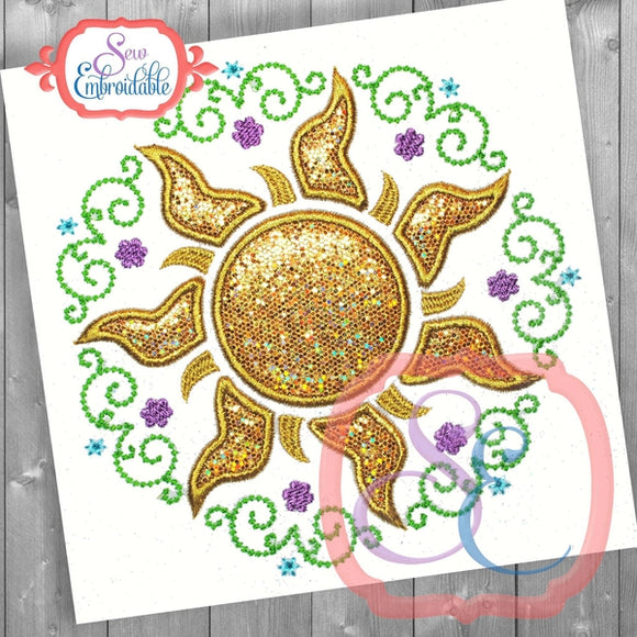 Sun Princess Frame, Applique