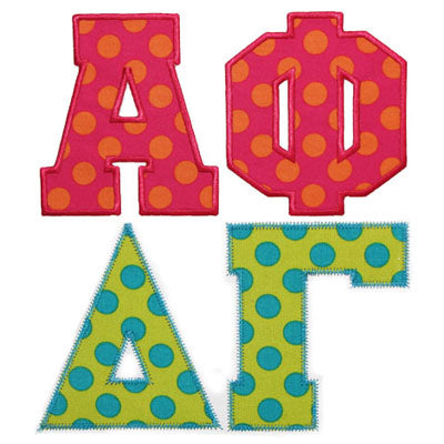 Greek Applique Alphabet II - embroidery-boutique