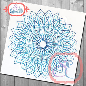 Ramona Mandala Quilting Square - embroidery-boutique