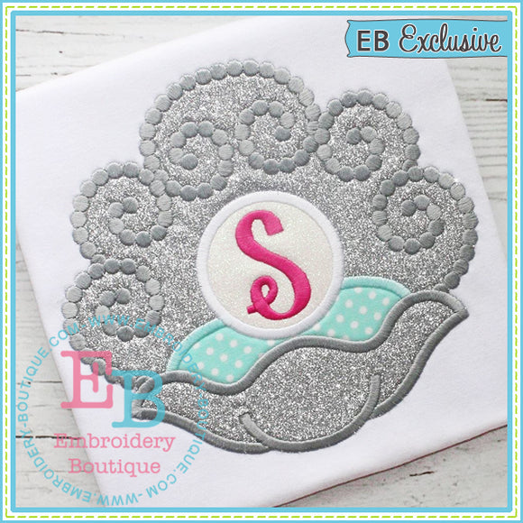 Swirly Shell Applique
