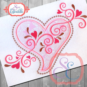 Heart Swirls Applique - embroidery-boutique
