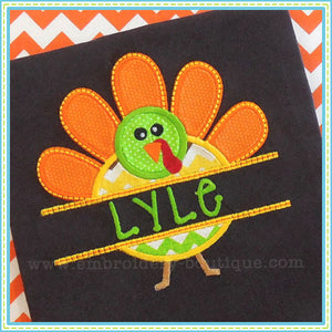 Split Turkey Applique, Applique