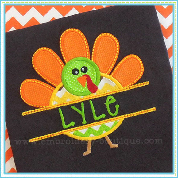 Split Turkey Applique - embroidery-boutique