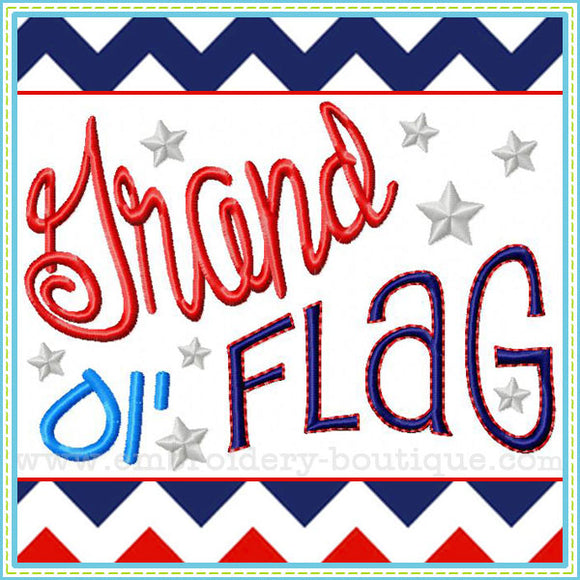 Grand Ol' Flag - embroidery-boutique