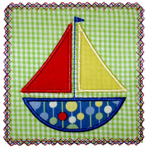 Sailboat Patch Applique