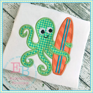 Surf Octopus Applique, Applique
