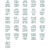 Split Tuscan Applique Alphabet (9, 10, 11, 12.5 and 14 inches)
