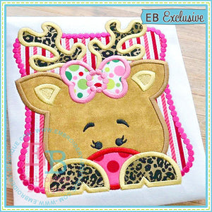 Girl Rudolph Peeker Applique