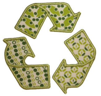Recycle Logo Applique - embroidery-boutique
