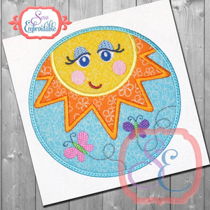 Sushine Circle Applique - embroidery-boutique