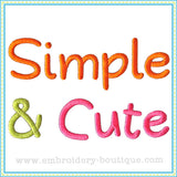 Simple & Cute Embroidery Font, Embroidery Font