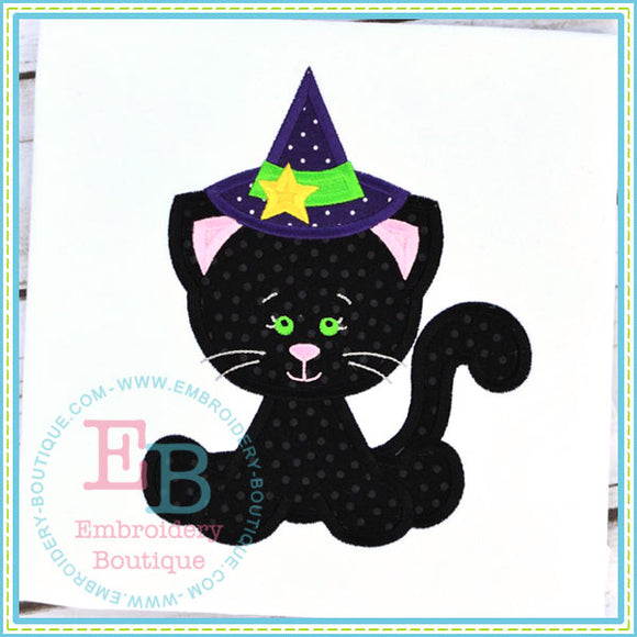 Lil Witch Kitty Applique, Applique