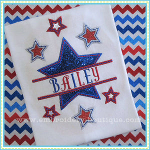 Split Stars Applique