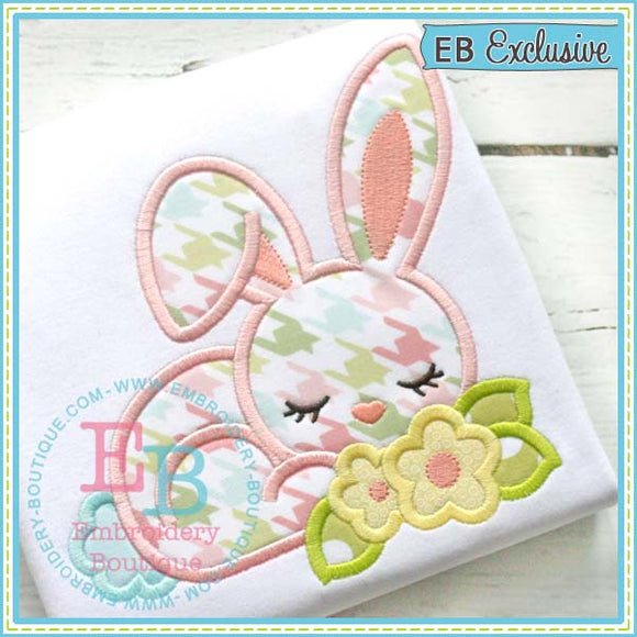 Bunny Flowers Applique