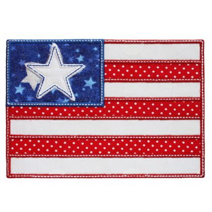 Flag Applique - embroidery-boutique